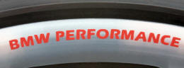 BMW PERFORMANCE Wheel Rim Decals by HighgateHouse