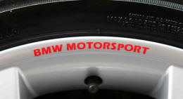 BMW MOTORSPORT Wheel Rim Decals by HighgateHouse