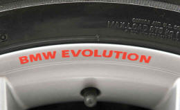 BMW EVOLUTION Wheel Rim Decals by HighgateHouse