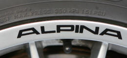 BMW ALPINA Wheel Rim Decals by HighgateHouse